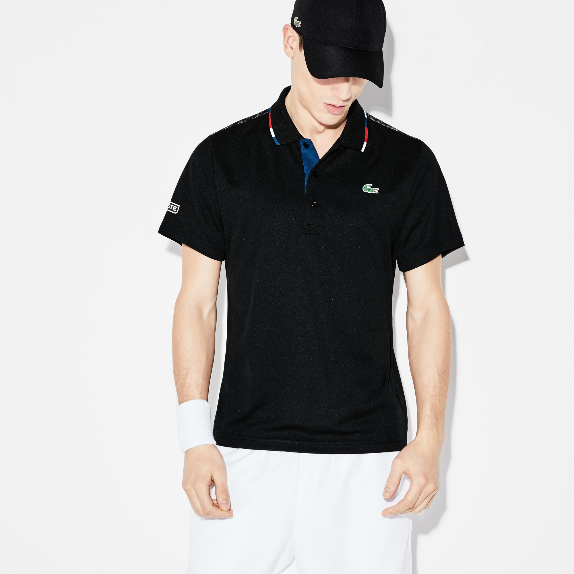 Men's SPORT Piped Technical Piqué Tennis Polo