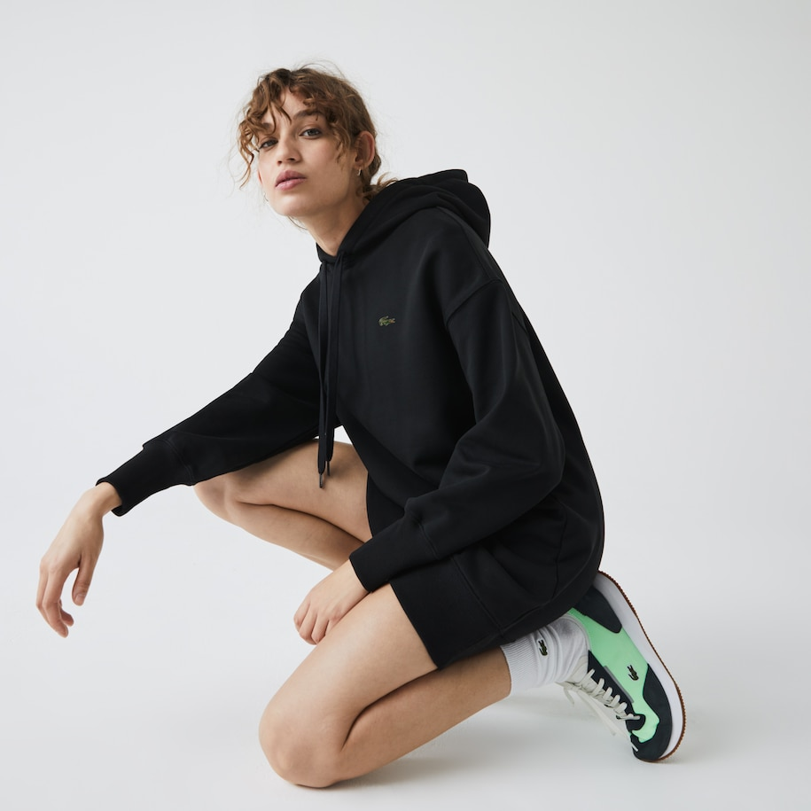 Women's LIVE Hooded Oversized Sweatshirt Dress