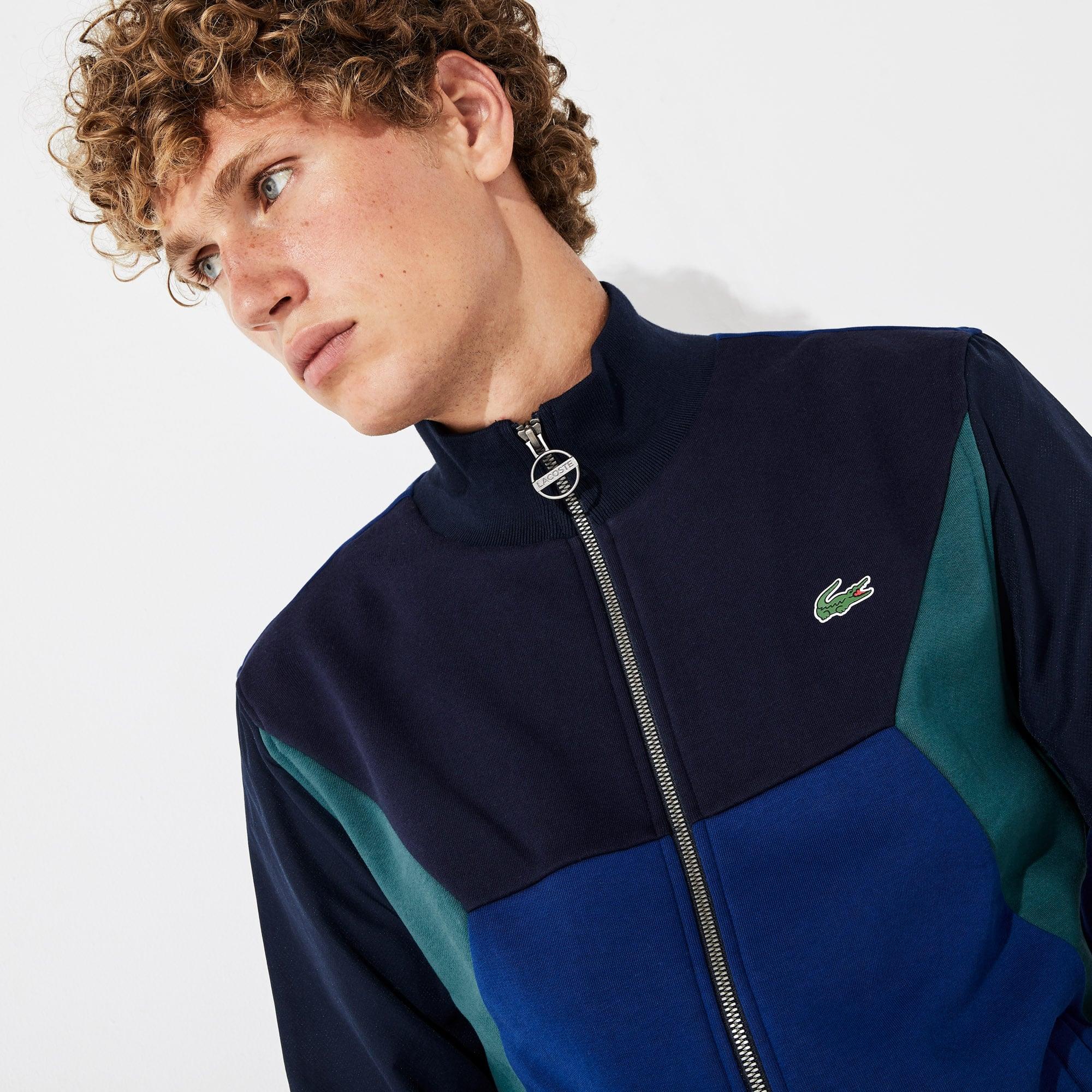 Lacoste Tops Men's SPORT Color-Blocked Zip Up Tennis Sweatshirt