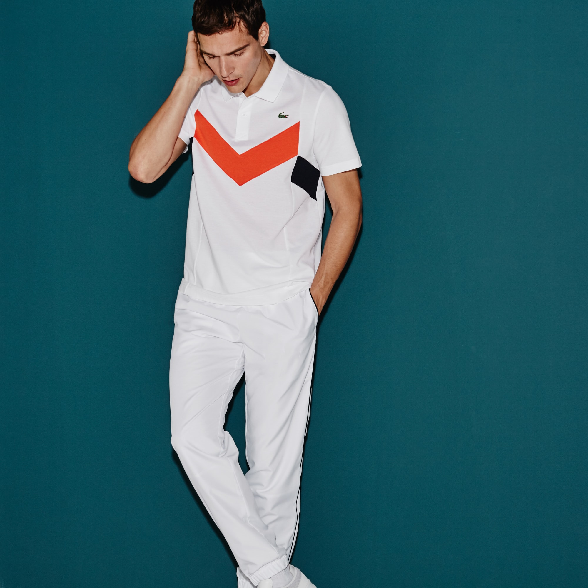 Men's SPORT Tennis Ultra-Lightweight Colorblock Knit Polo