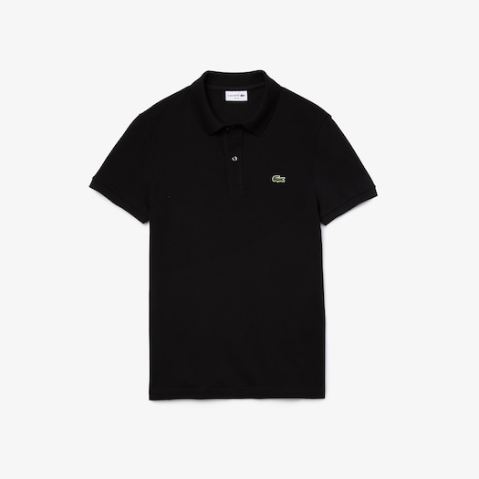 라코스테 Lacoste Mens Petit Pique Slim Fit Polo Shirt,Black - 031 (Selected colour)