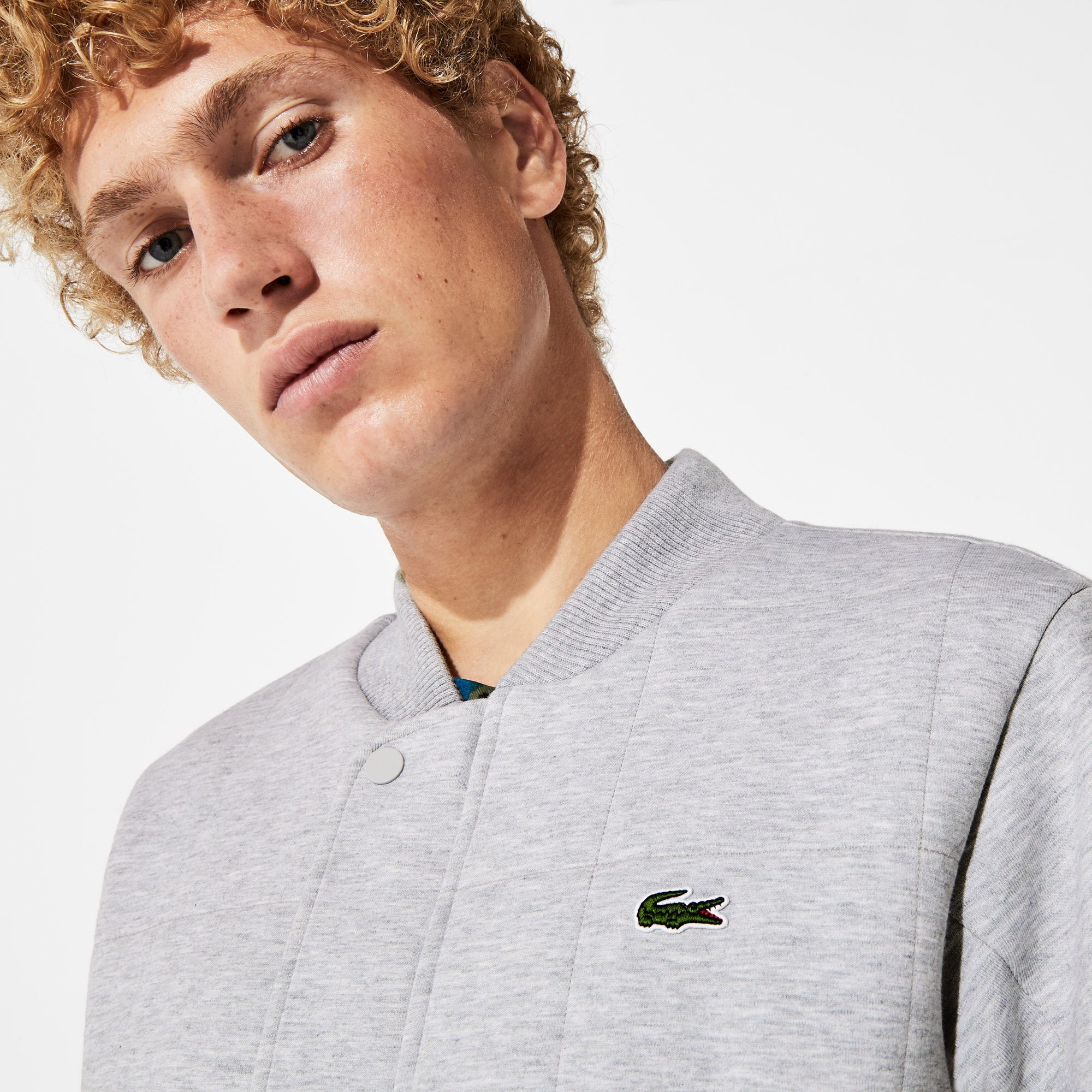 Men's SPORT Quilted Cotton Blend Fleece Bomber Jacket