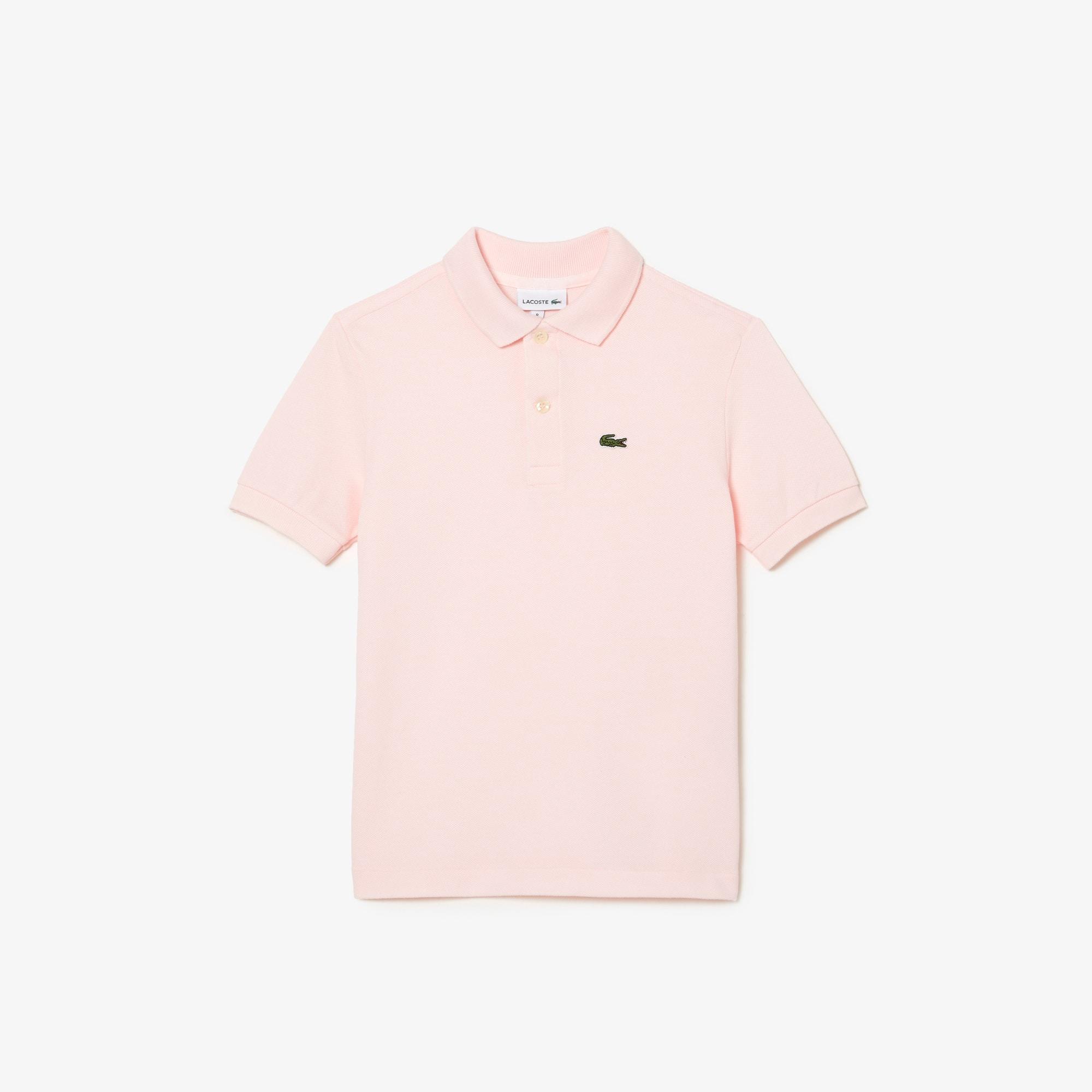 라코스테 보이즈 클래식 피케 폴로셔츠 - 라이트 핑크 Lacoste Boys' Classic Pique Polo