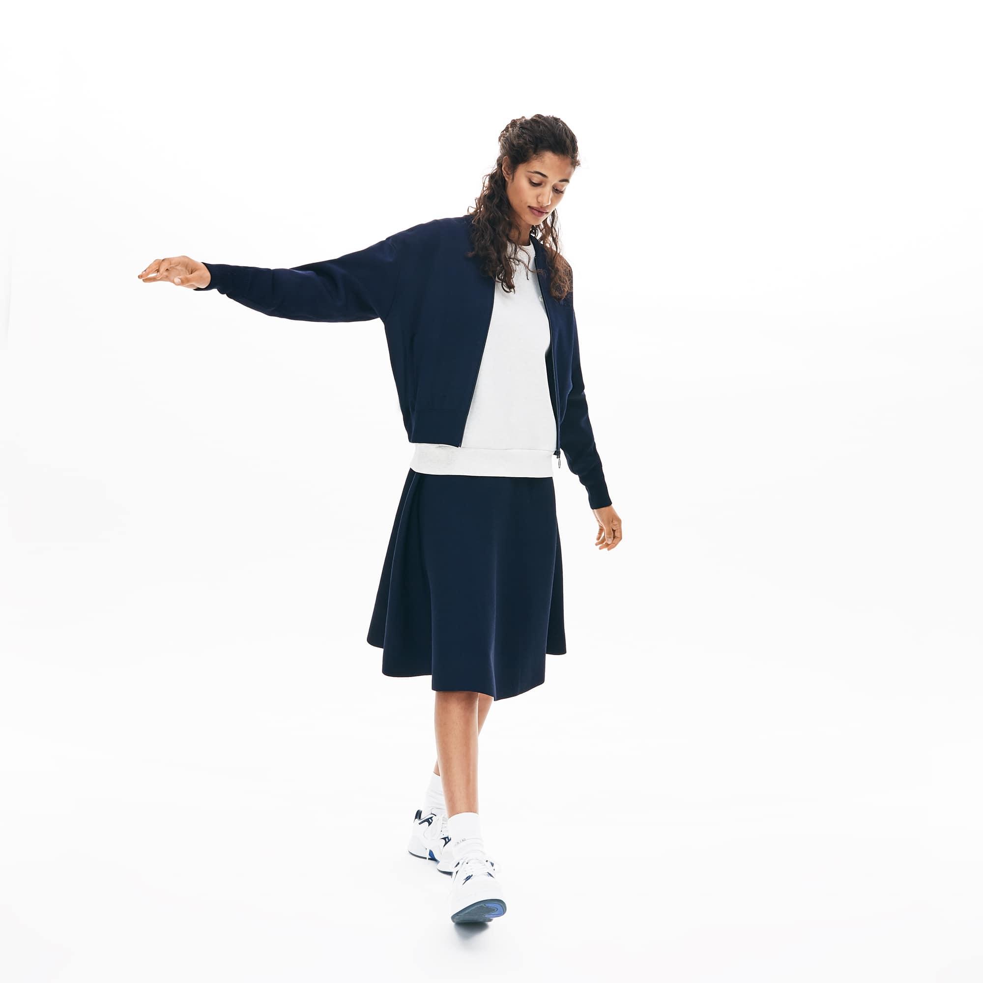 Lacoste Dresses Women's Cropped Zip-Front Cardigan
