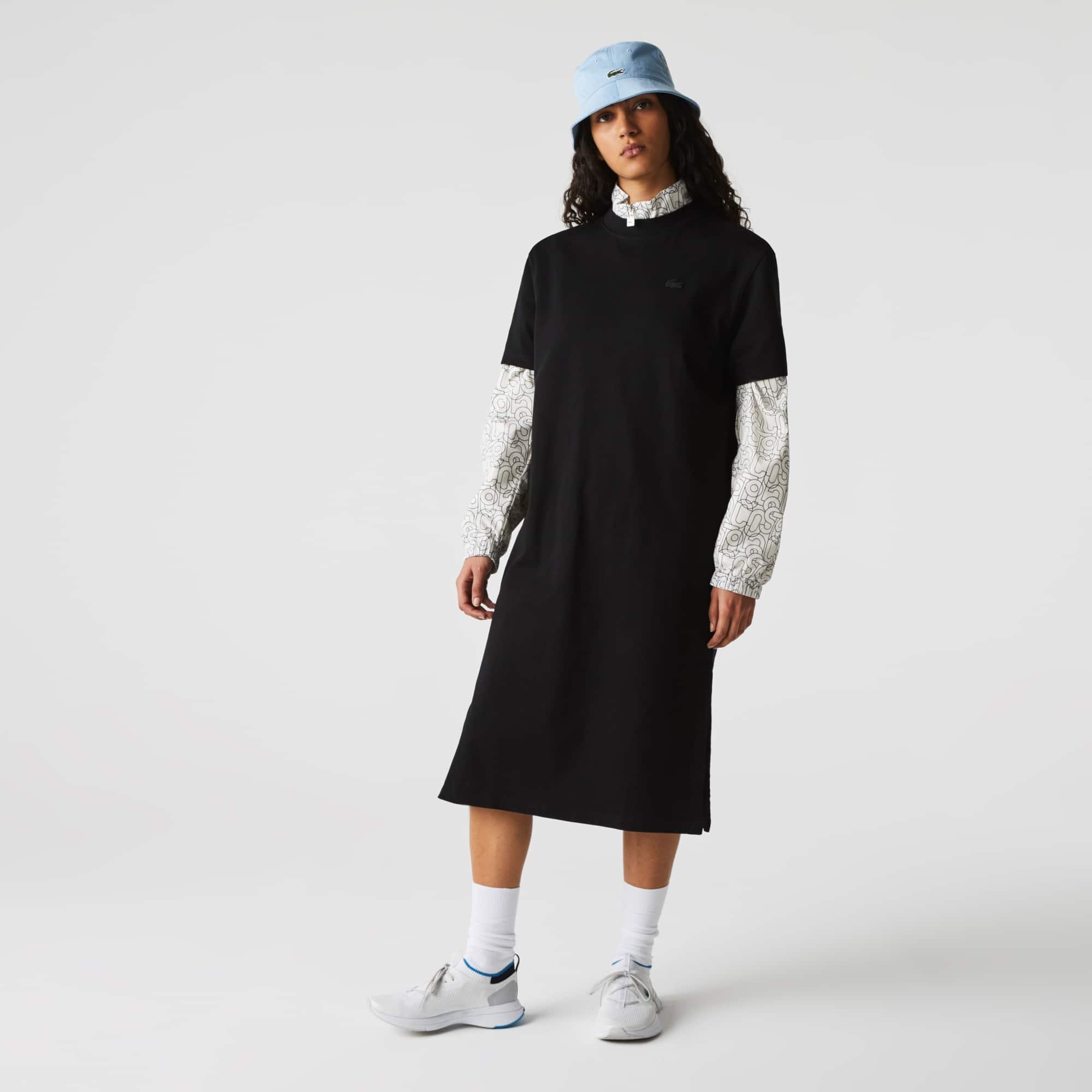 라코스테 라이브 티셔츠 원피스 Lacoste Women's LIVE Print Cotton T-shirt Dress