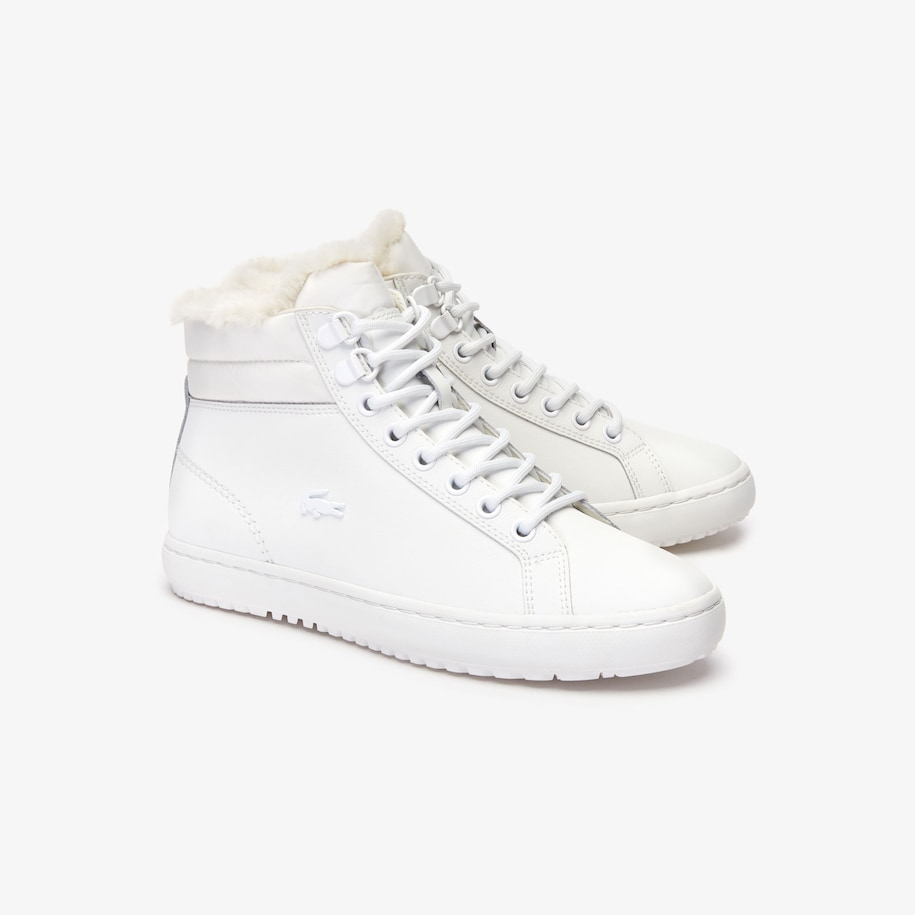Women S Straightset Thermo Leather Boots Lacoste