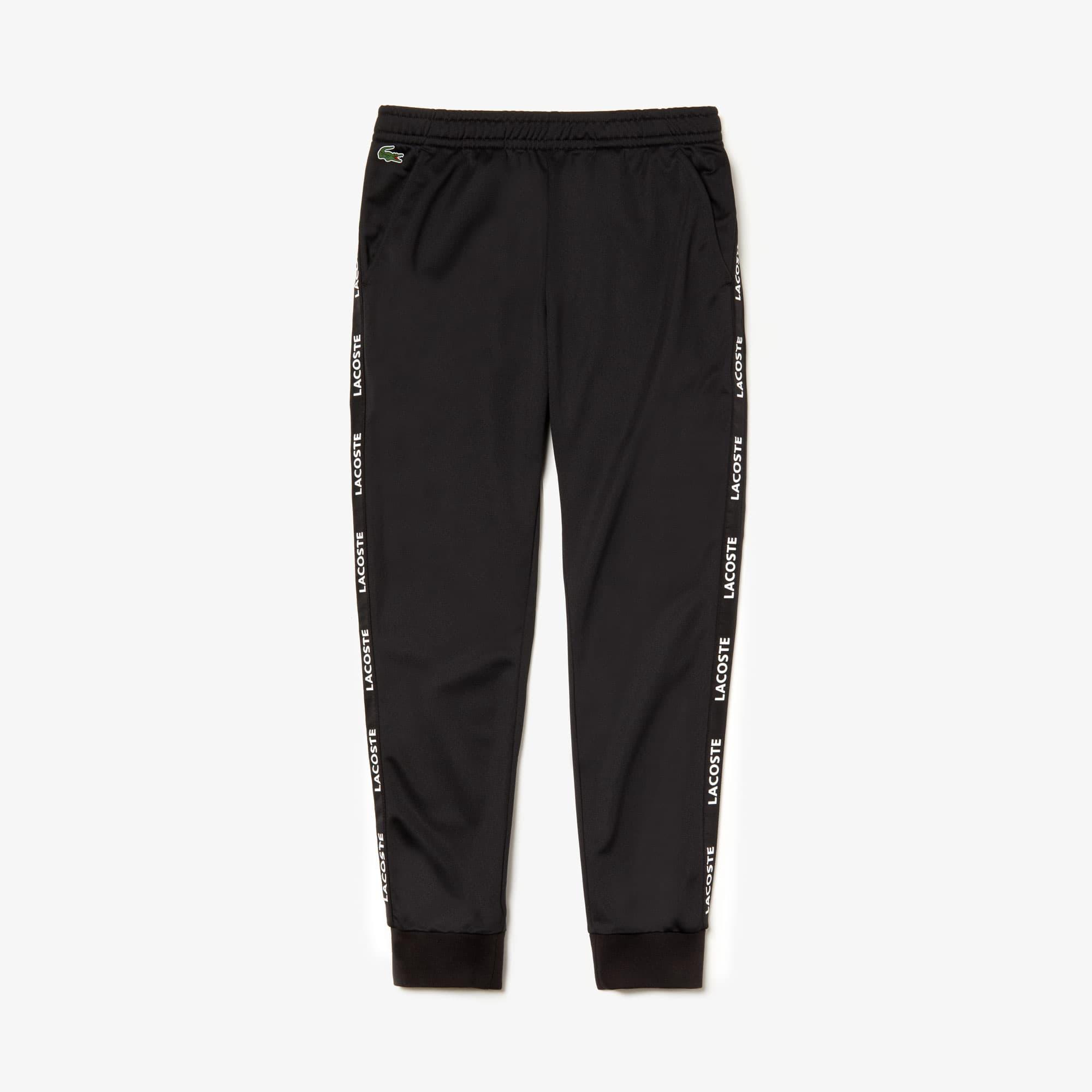 Lacoste Pants Men's SPORT Signature Bands Piqué Track Pants