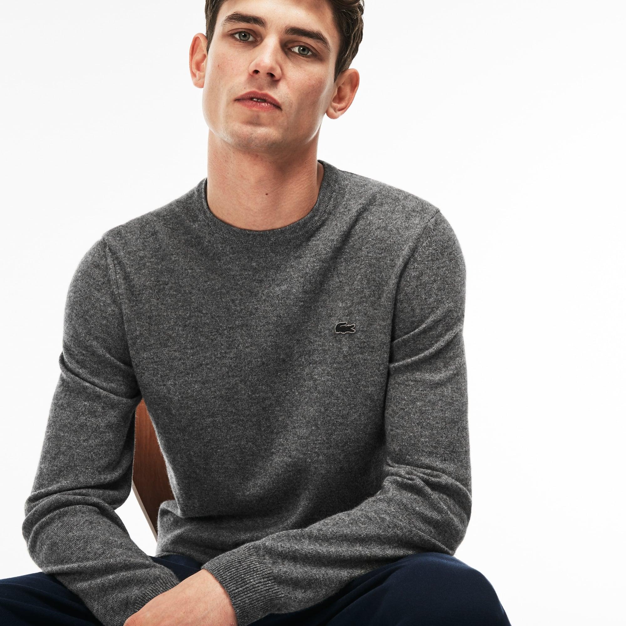 Men's Crew Neck Cashmere Jersey Sweater