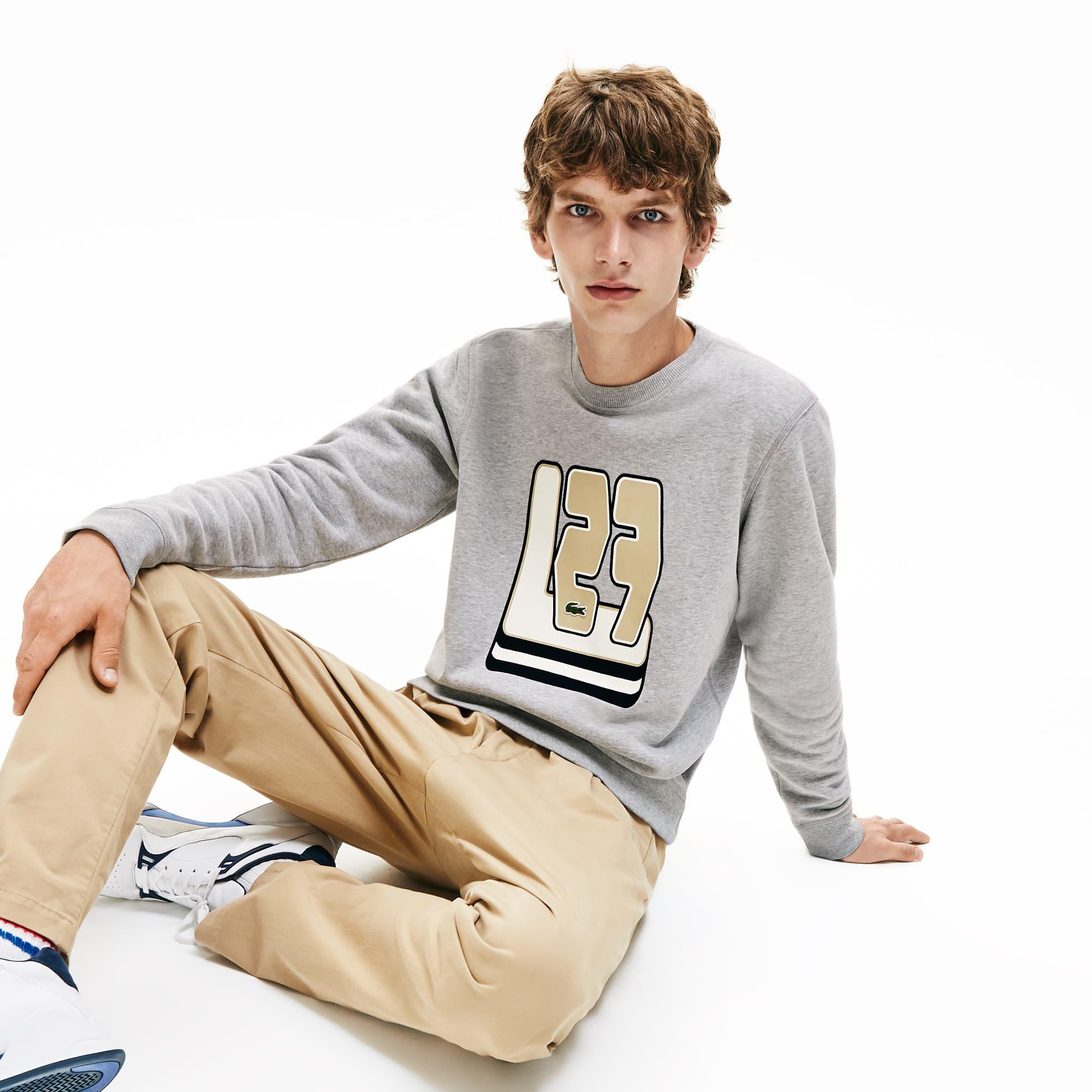 Lacoste Tops Men's Crewneck L27-Print Cotton Blend Sweatshirt