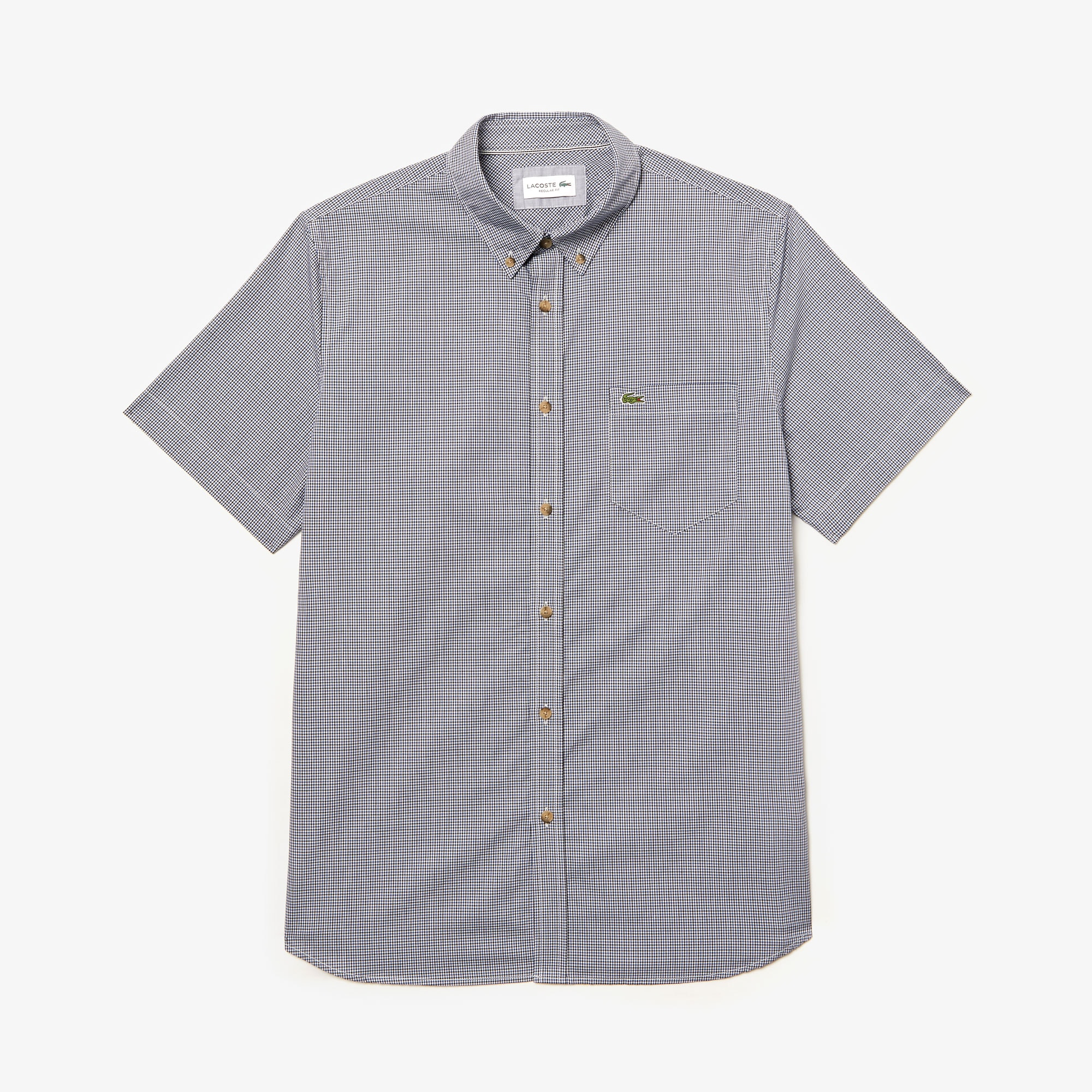 Men's Regular Fit Gingham Cotton Shirt