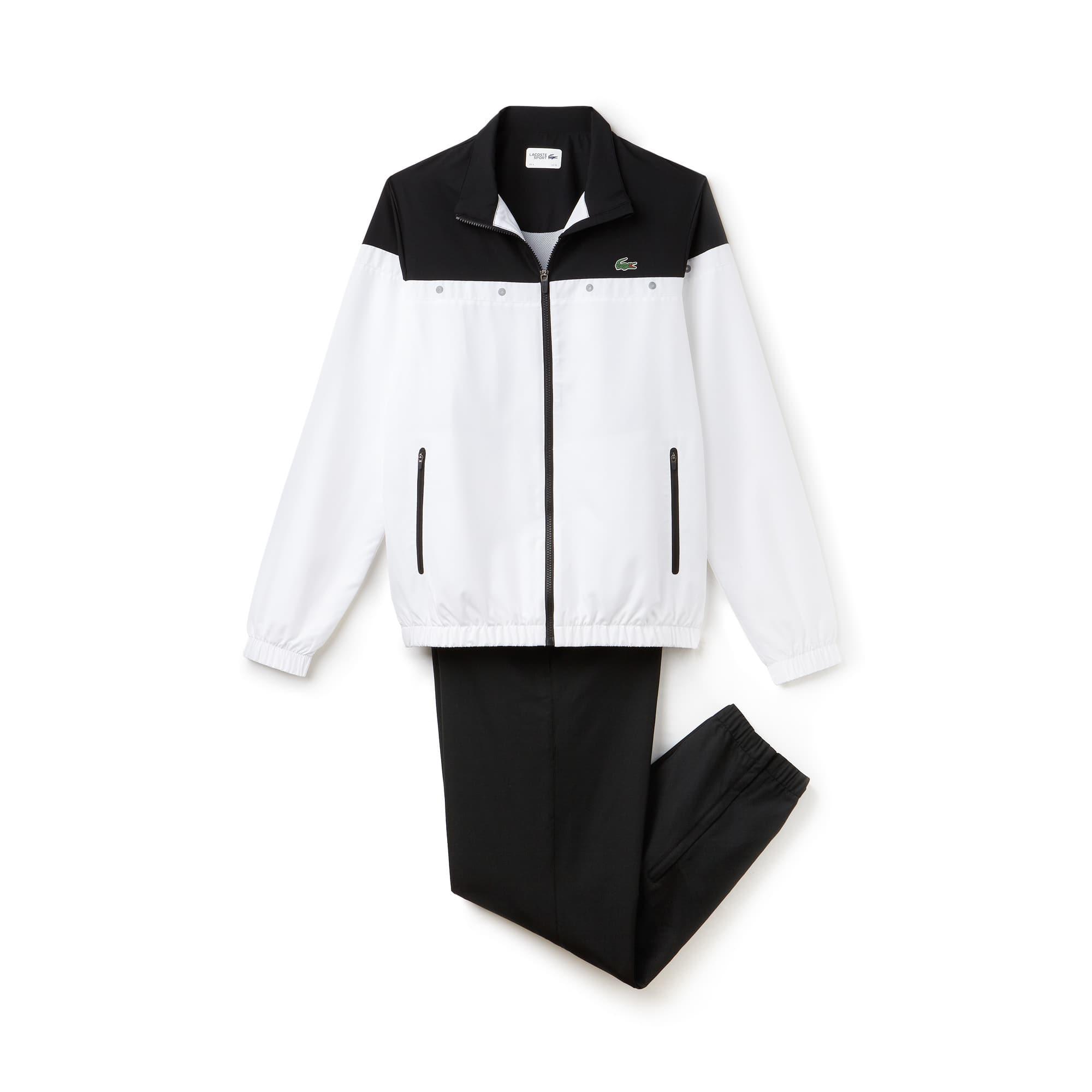라코스테 스포츠 트랙 수트 Lacoste Mens SPORT Colorblock Tennis Tracksuit,white/black