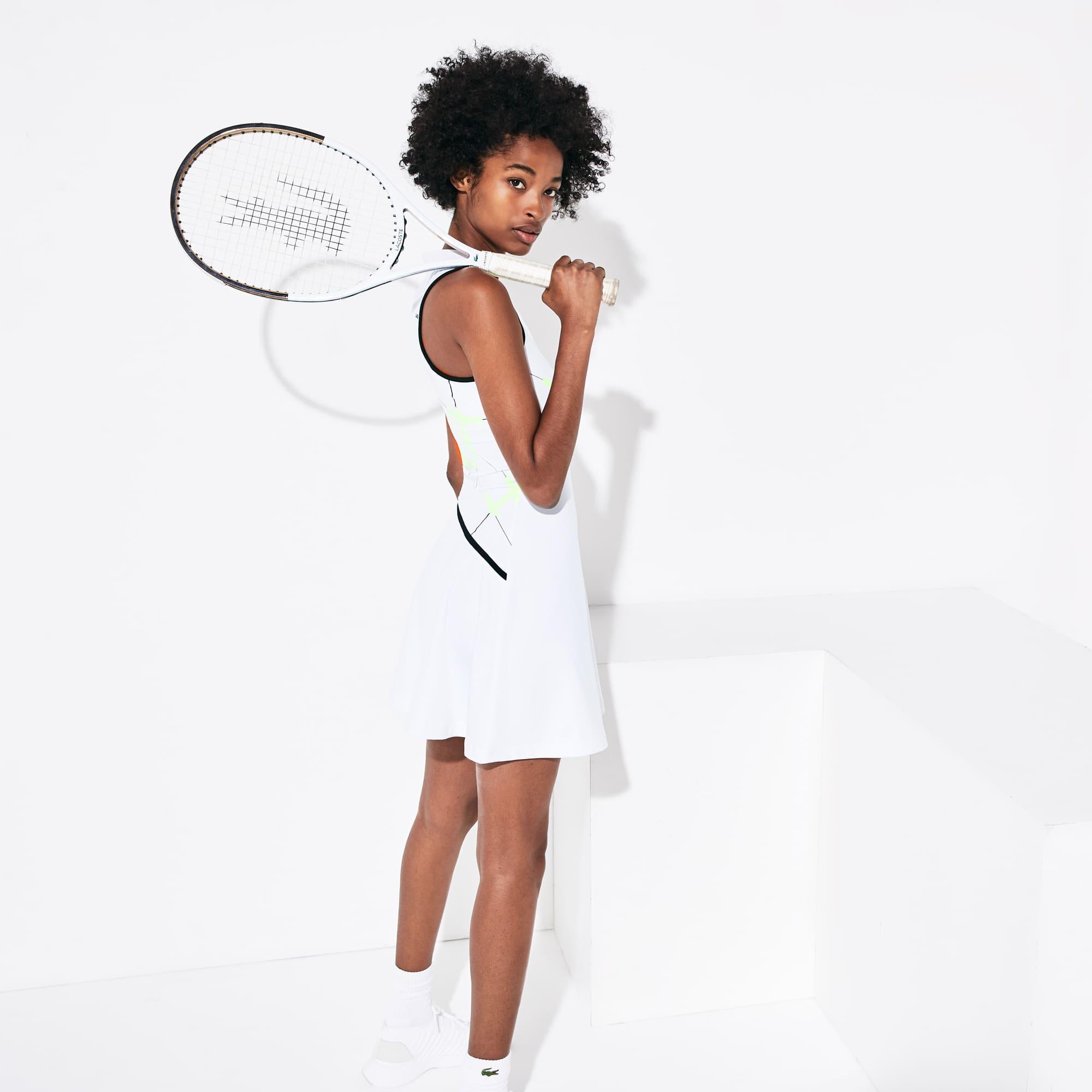 Lacoste Dresses WOMEN'S SPORT GEOMETRIC PRINT TENNIS DRESS