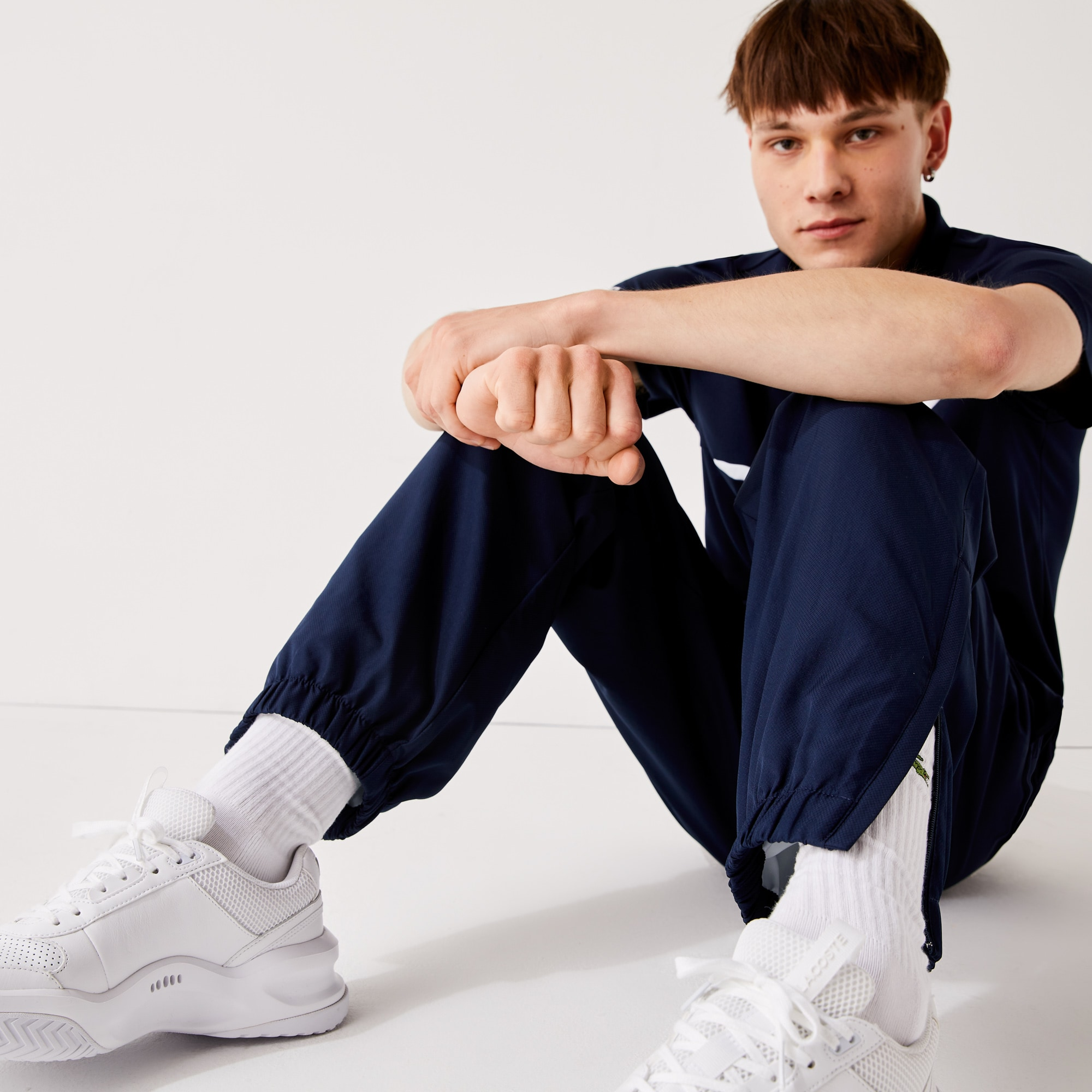 Men's  SPORT Tennis trackpants in diamond weave taffeta