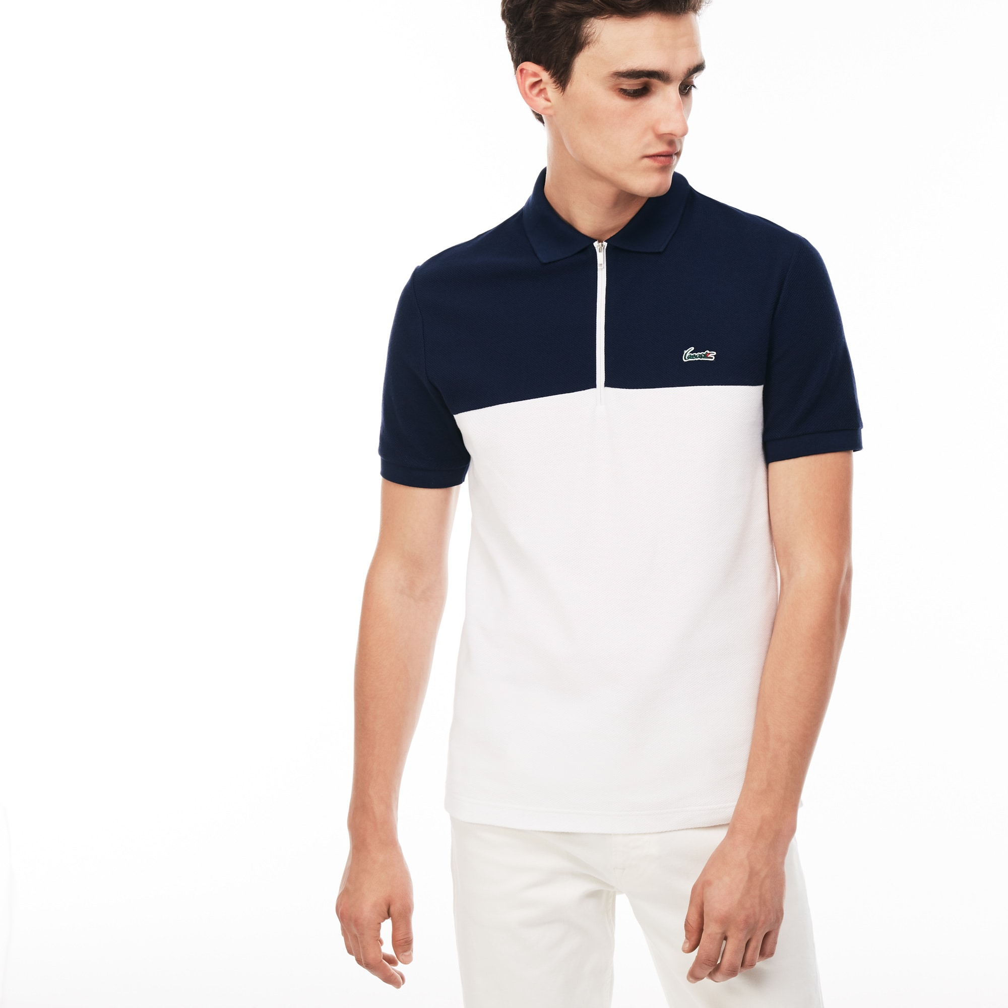 Men's Slim Fit Honeycomb Polo