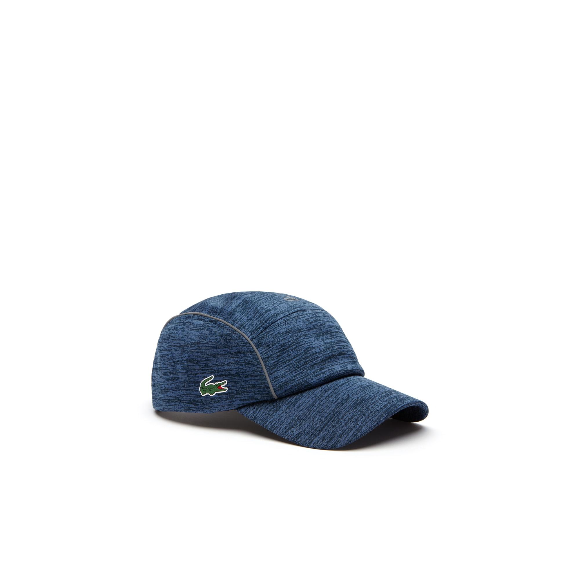 Mens 라코스테 Lacoste SPORT Tennis Jersey & Metallic Mesh Cap,blue / black