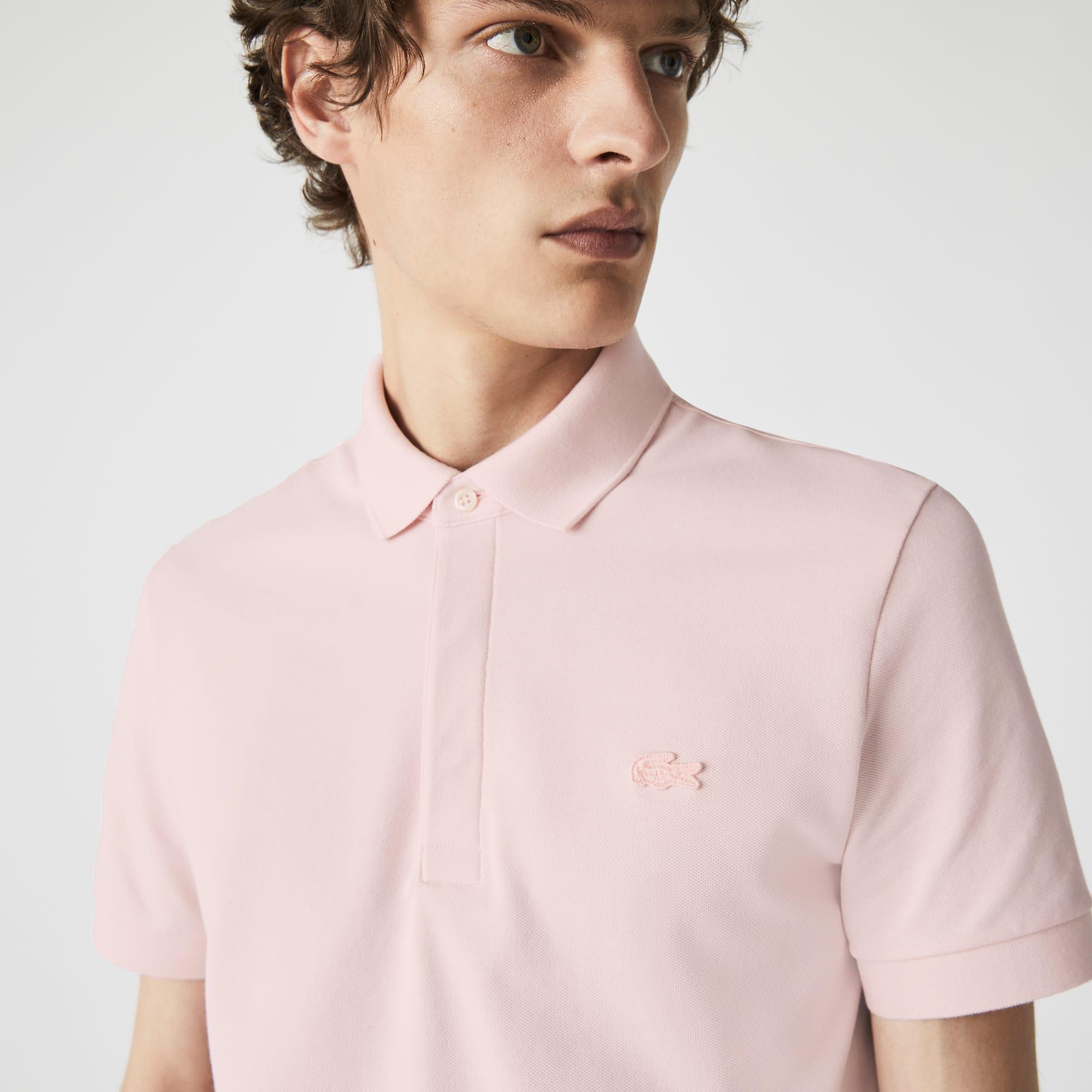 Mens Lacoste Paris Polo Shirt Regular Fit Stretch Cotton Pique