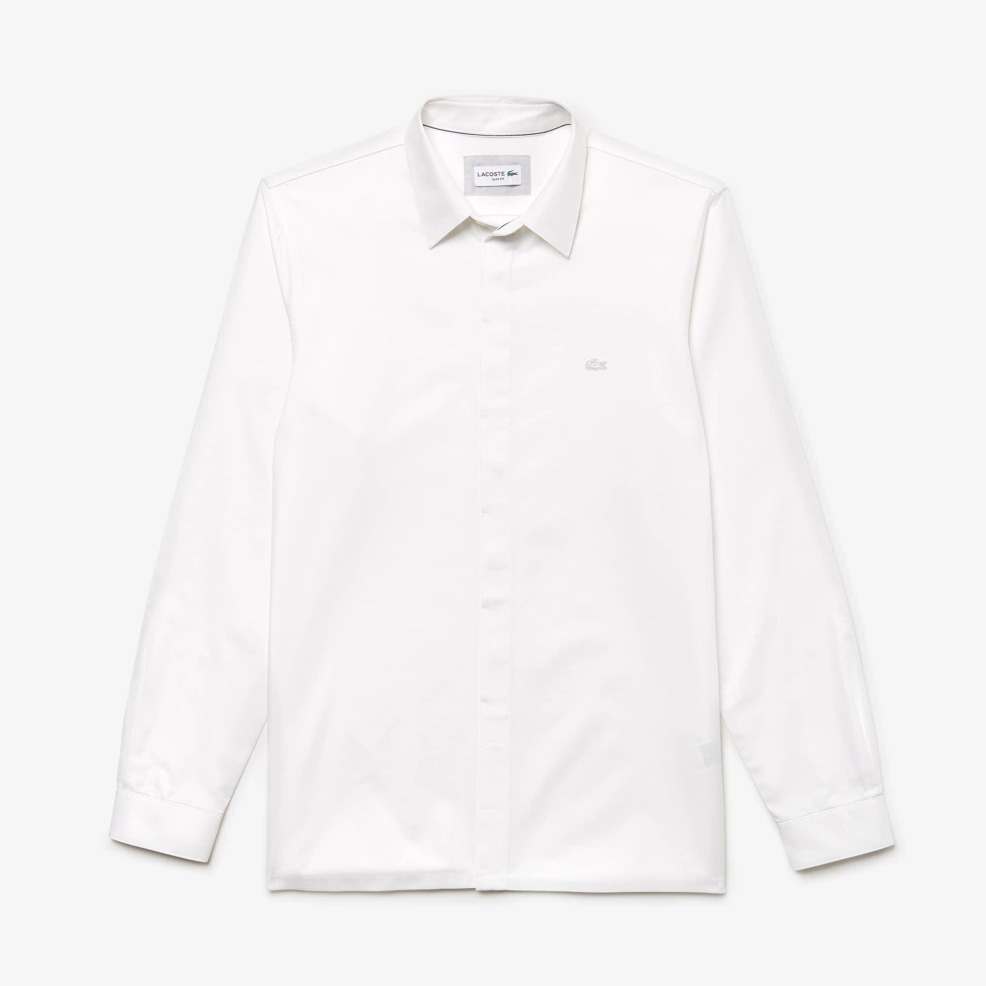 Men's Motion Slim Fit Cotton Mini Piqué Shirt