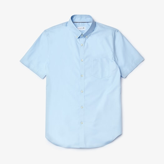 라코스테 레귤러핏 셔츠 Lacoste Mens Regular Fit Mini Pique Shirt,Light Blue / Light Blue