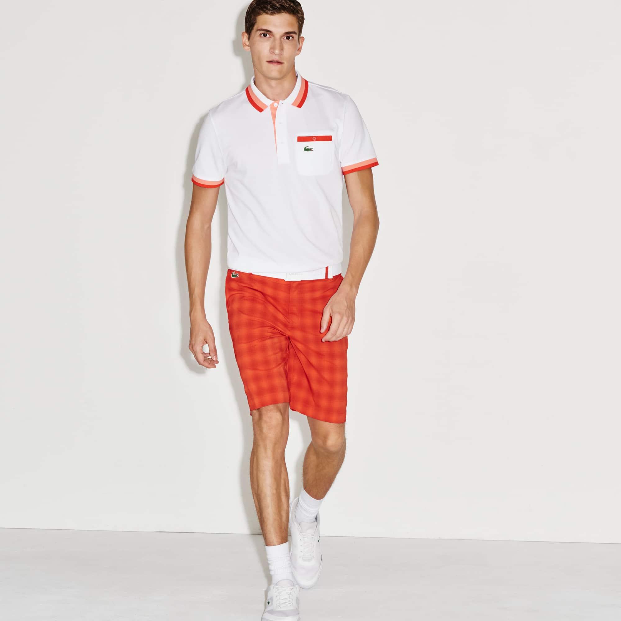 Men's Stretch Checked Golf Shorts