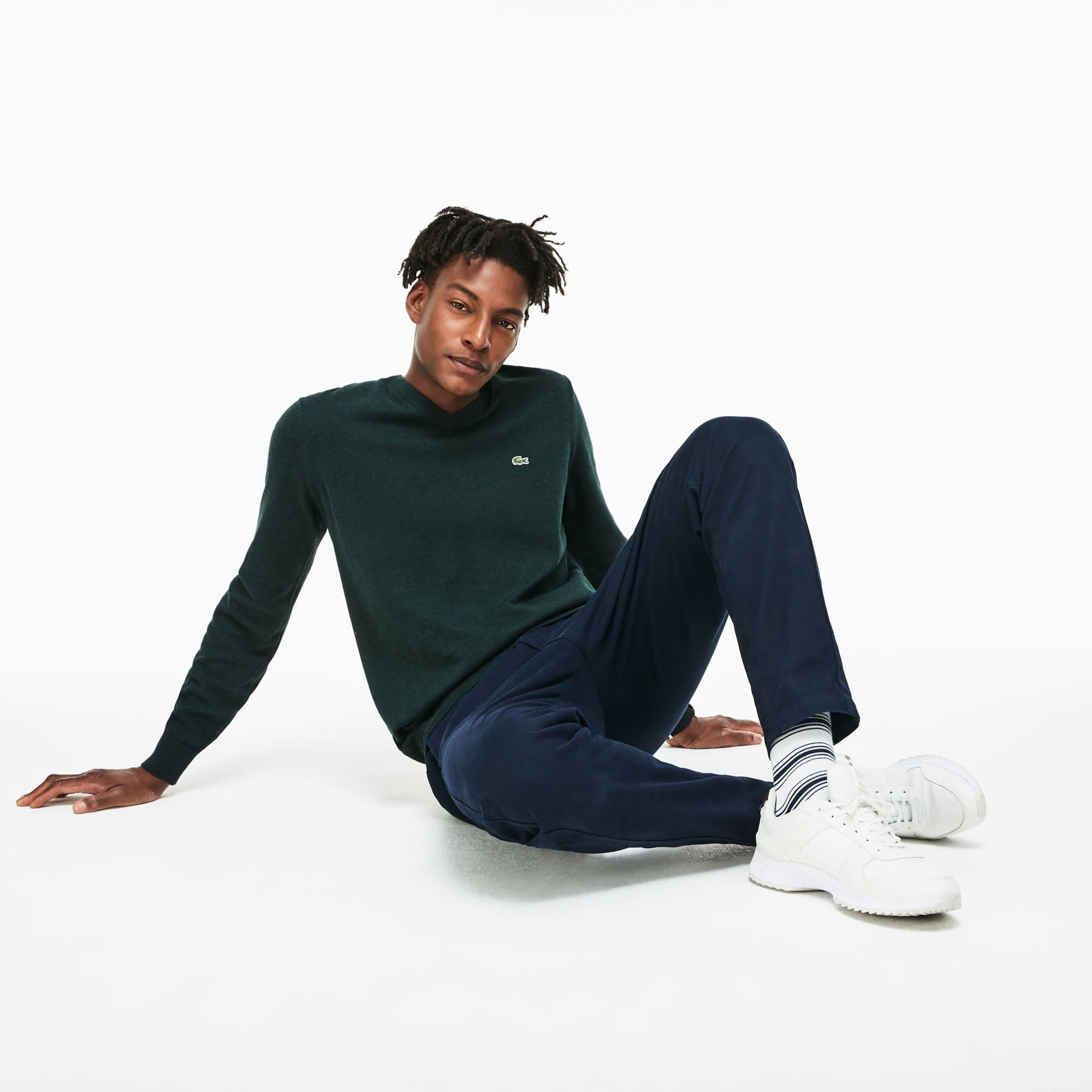 Men's Caviar Piqué Cotton Sweater