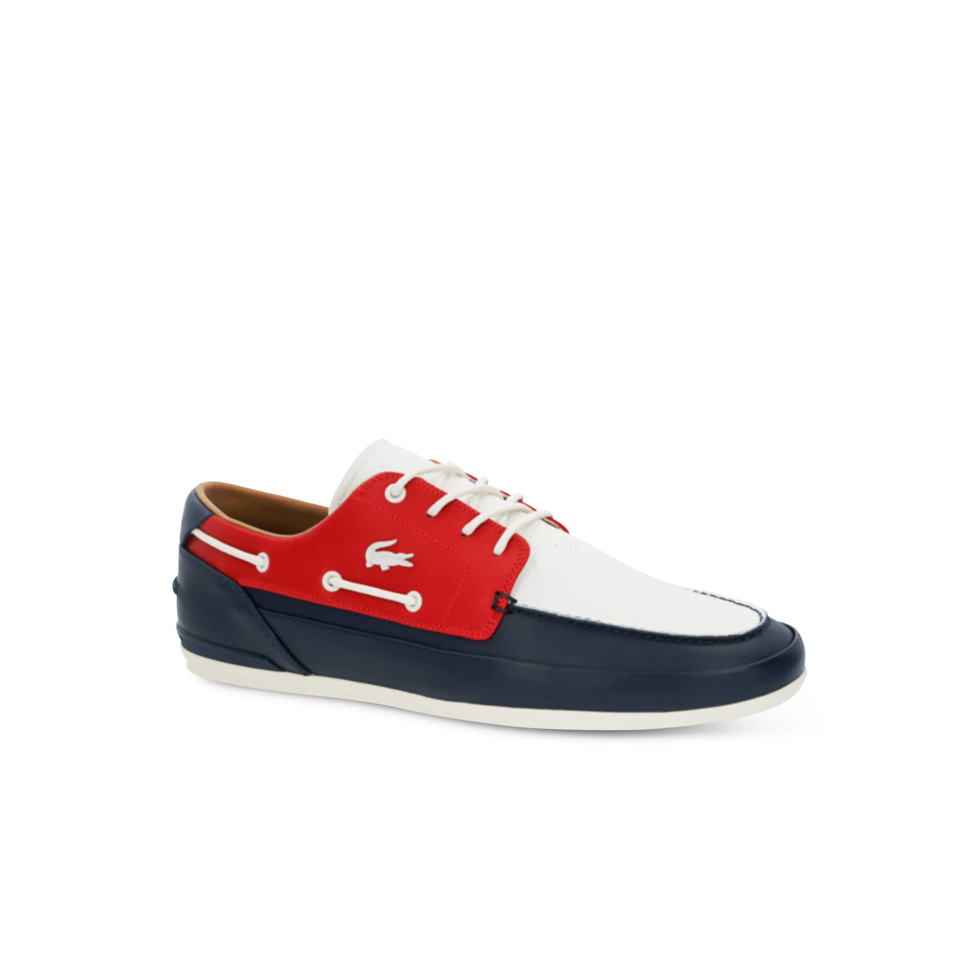 49ecb98b8598c Men s Marina Leather Deck Shoes.  135.00. Lacoste ...