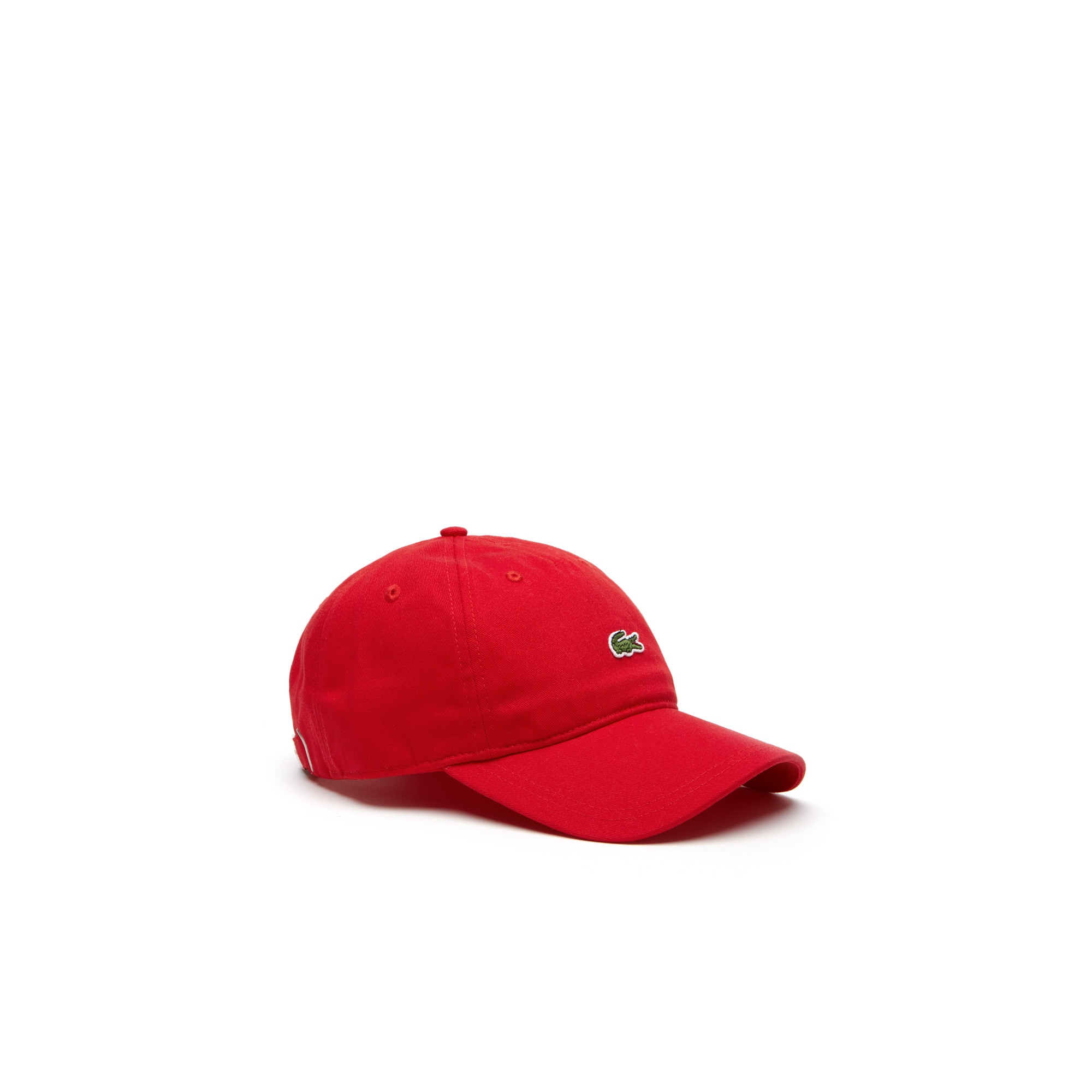 라코스테 Lacoste Mens Embroidered Crocodile Cotton Cap,red