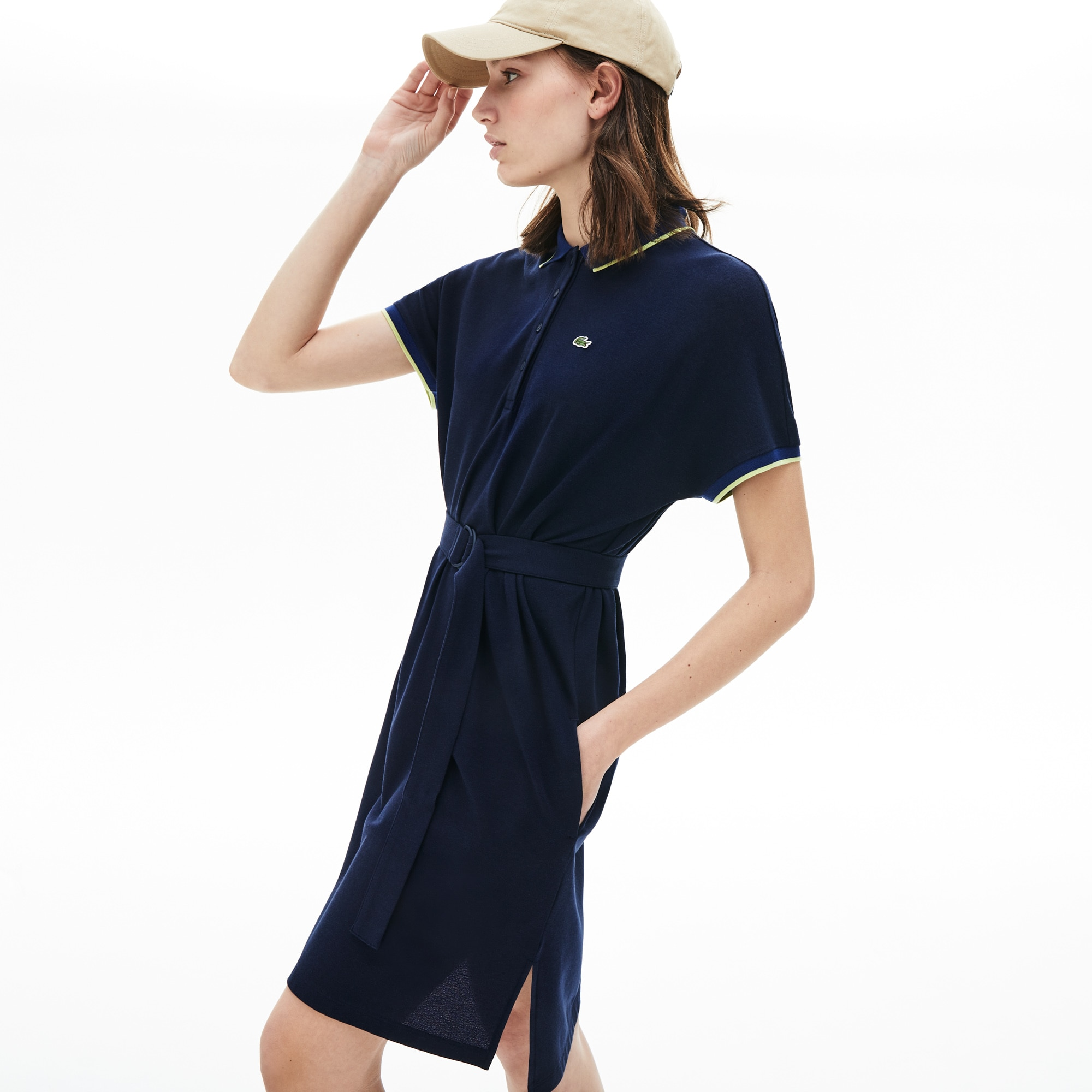 Women's Kimono-Sleeved Flowy Polo Dress
