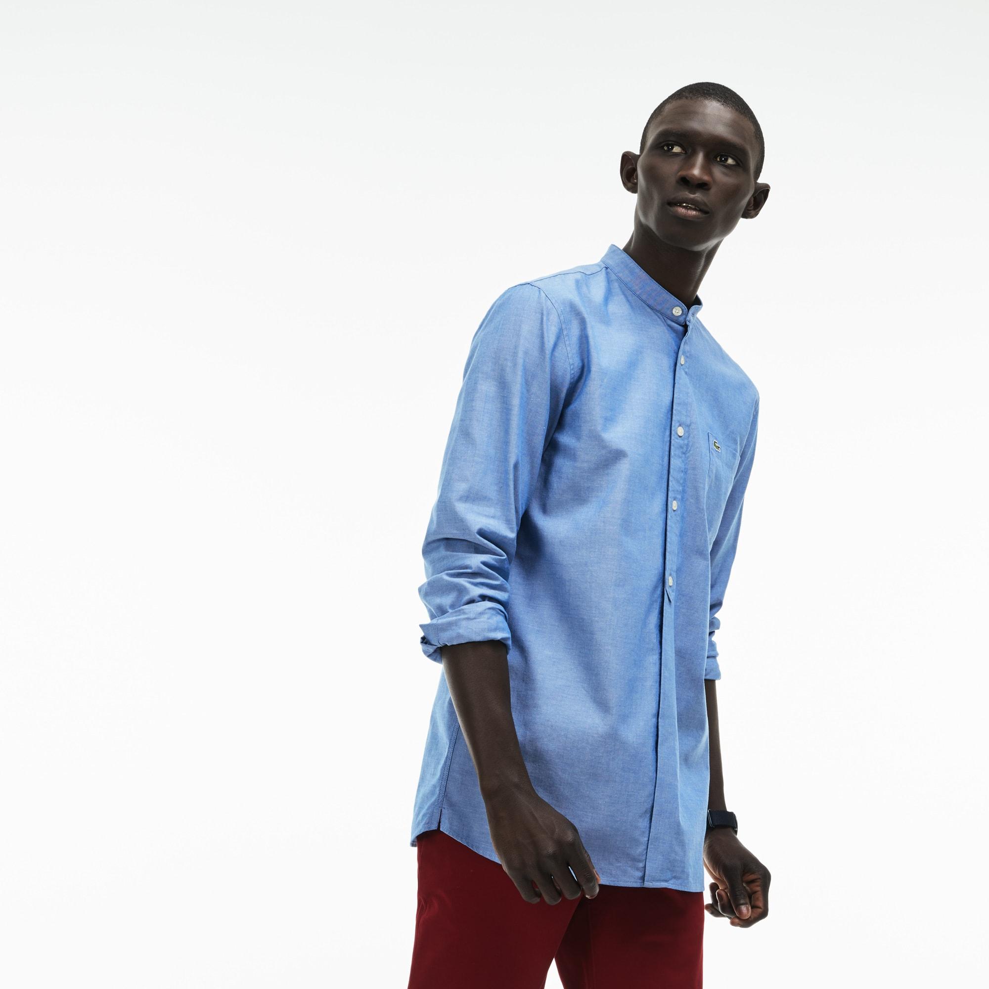 Men's Slim Fit Cotton Chambray Shirt