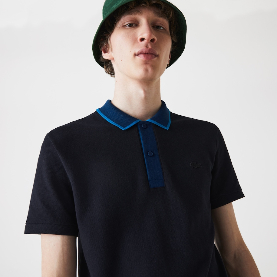Men's Two-Tone Collared Polo