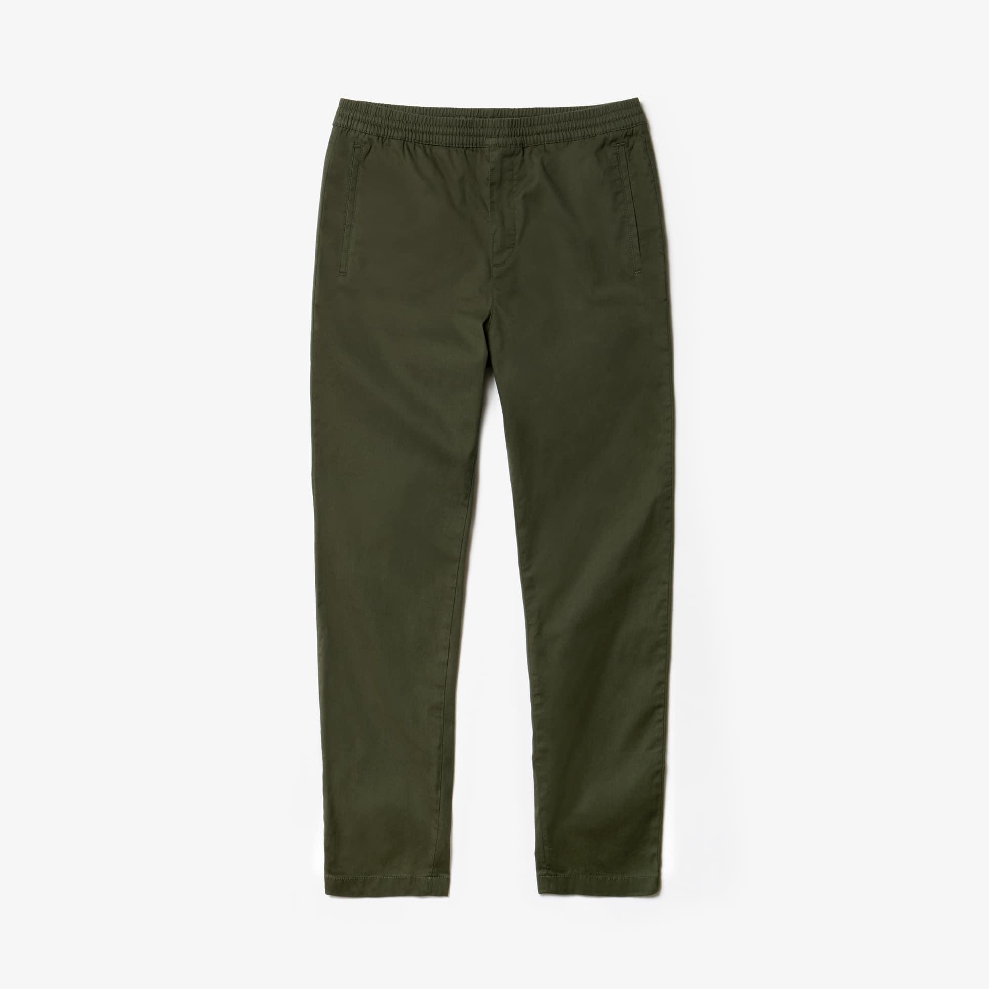 라코스테 Lacoste Mens Stretch Canvas Chinos,khaki green
