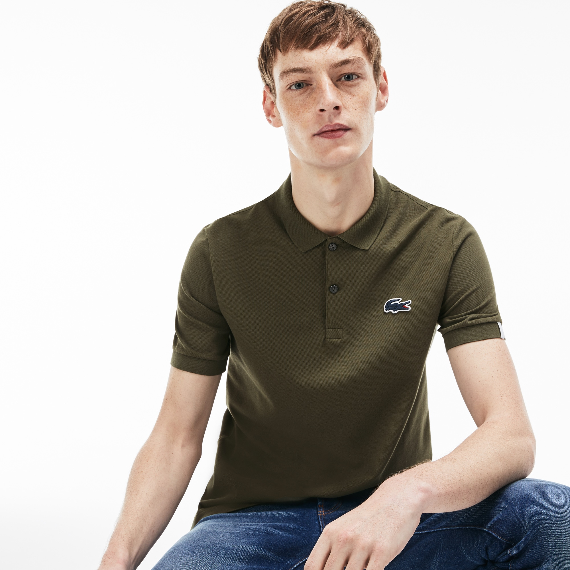 Men's LIVE Slim Fit Stretch Piqué Polo
