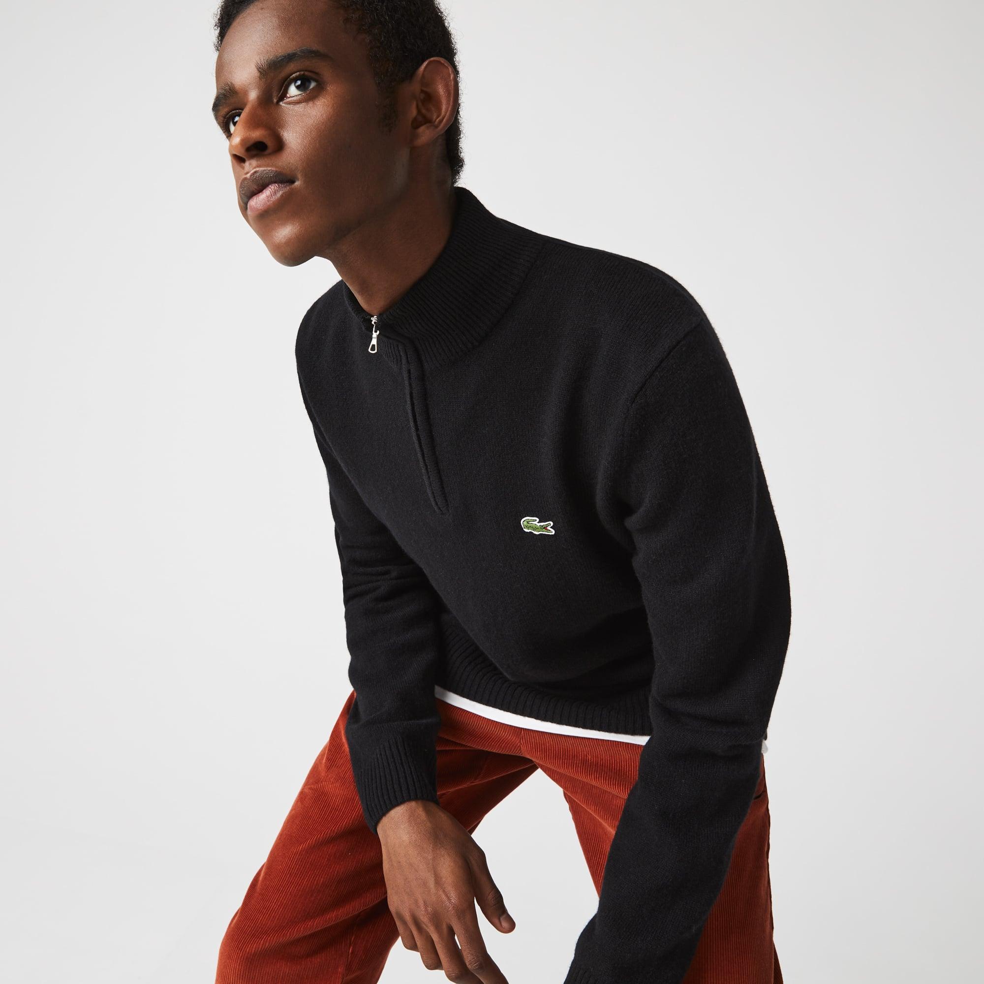 라코스테 맨 울 트러커 스웨터 Lacoste Men's Wool Trucker Sweater